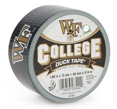 Wake Forest College Duck Tape® brand duct tape http://duckbrand.com/products/duck-tape/licensed/college-duck-tape/wake-forest-188-in-x-10-yd?utm_campaign=college-duck-tape-general&utm_medium=social&utm_source=pinterest.com&utm_content=college-duck-tape