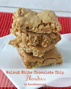 Walnut White Chocolate Chip Blondies