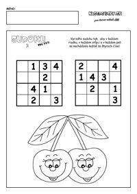 Výsledek obrázku pro sudoku pro děti