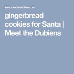 gingerbread cookies for Santa   Meet the Dubiens