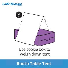 Free, Printable One More Box Table Tent for your Girl Scout Cookie Booth Cookie Table, Cookie Box, Cookie Ideas, Girl Scout Cookie Sales, Brownie Girl Scouts, Thank You Printable, Free Printable, Booth Table, Gs Cookies