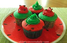 Skinny Watermelon Babycakes are the perfect summer dessert recipe to share with your family.