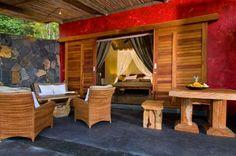 Varangue in lodge Lakaz Chamarel, Mauritius