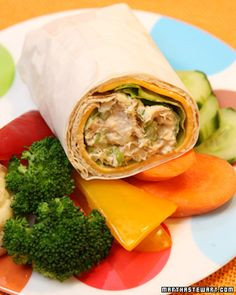 tuna salad and cheese roll-up