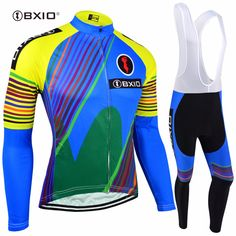 BXIO Winter Thermal Fleece Cycling Sets Long Cycling Set Warm Maillot De Ciclismo Blue Cycling Clothes Ciclismo 110 #Affiliate