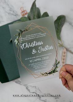 Wedding Invitation Trends, Acrylic Wedding Invitations, Wedding Trends, Invitation Design, Wedding Stationery, The Invitation, Outdoor Wedding Invitations, Event Invitations, Wedding Invitation Inspiration