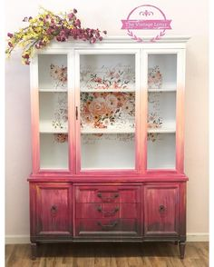 New Ombre Painted Furniture Cabinets 43 Ideas Funky Furniture, Refurbished Furniture, Paint Furniture, Repurposed Furniture, Furniture Projects, Furniture Makeover, Furniture Decor, Furniture Stores, Kitchen Furniture