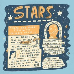 "3,208 Likes, 25 Comments - Mike Lowery (@mikelowerystudio) on Instagram: ""A few random facts about STARS. #doodleadventures #randomillustratedfacts #handlettered…"""