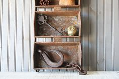 Large Bread Pan // Industrial Storage by buffalowinter on Etsy, $34.00