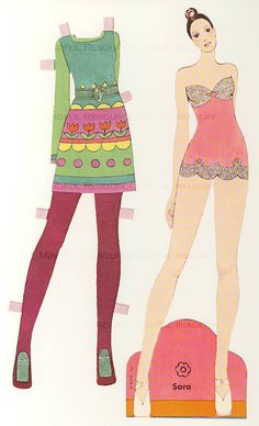 1970s Fashion Paper Dolls 70s Models Disco by mindfulresource