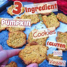 3-Ingredient Pumpkin Cookies (#Glutenfree, #Vegan) + Namaste Foods #Giveaway - #healthy, #Christmas