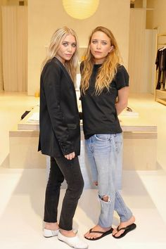 Mary-Kate and Ashley Olsen looked laid-back cool at the Elizabeth and James…