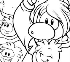 club penguin free coloring page
