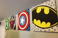 CUSTOM Made to Order Superhero/Video Game/Comic Paintings!! To go with my comic book chairs