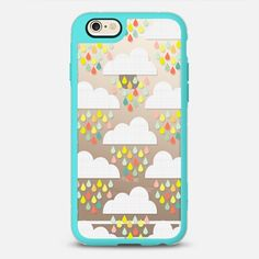 Happy Rain - New Standard Case in Teal and Clear by @natitys | @casetify