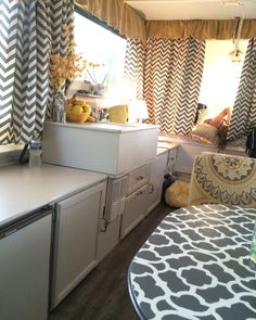 Dramatic and glamorous overhaul of pop up camper.