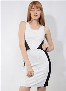 White Sequin and Mesh Dress $7.50 per unit