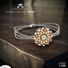 This #bracelet captures the essence of butterflies and shimmer of #diamonds. Isn't is just perfect for her? #bracelet #gold #diamond #diamondbracelet #bracelet #diamond #pearljewellery #giftsforher #goldbracelet #diamondjewelleryonline #goldbraceletsonline