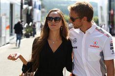 Jessica Michibata and Jenson Button. A perfect couple <3