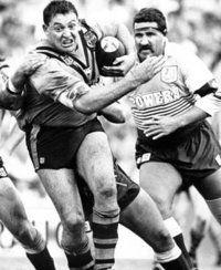 Balmain Tigers in the 80's. Big Blocka Roach.