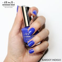 Being bold is always in season! Bardot Indigo is a sassy Blue-Purple perfect to wear alone or as a base for your fabulous  designs. Manicure by    Spring Nails, Bardot, Pedicure, Nail Art Designs, Sassy, Purple, Blue, Indigo, Nailart