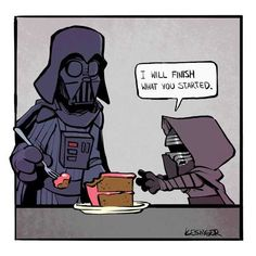 """By Brian Kesinger Star Wars Calvin and Hobbes """"I will finish what you started"""" Darth Vader and Little Kylo Ren Star Wars Rebels, Star Wars Meme, Star Wars Comics, Simbolos Star Wars, Amour Star Wars, Star Wars Film, Marvel Comics, Calvin Und Hobbes, Darth Vader"""