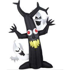 Gemmy 6' LED Inflatable Haunted Tree Lighted Halloween Yard Decoration