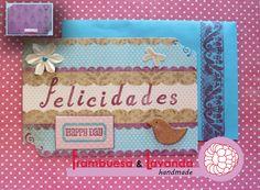 Tarjeta Felicitación Scrapbooking