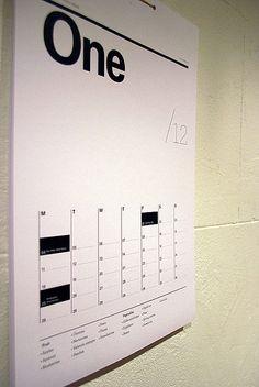 My calendar for 2010 | by denèe
