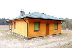 Dom Kamionka I - Budowa domów szkieletowych kanadyjskich Rzeszów - Daszer #drewnianydom #domszkieletowy  #parterowy #wood Shed, Outdoor Structures, Barns, Sheds