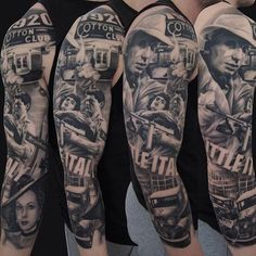 Full Sleeve Gangster Themed Tattoos For Males Gangster Tattoos, Mafia Gangster, Full Sleeve Tattoos, Tattoo Sleeve Designs, Leg Tattoos, Black Tattoos, Tatoos, Payasa Tattoo, Tattoo Mafia