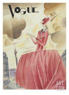 Vogue - April 1927 Premium Giclee Print by William Bolin at Art.com