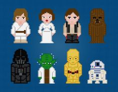 $  Star Wars Characters Cross Stitch pattern on Craftsy.com