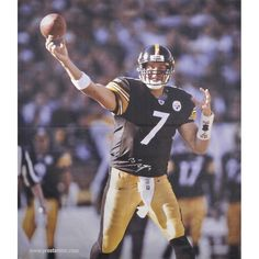 """Ben Roethlisberger Pittsburgh Steelers Fanatics Authentic Autographed 70"""" x 62"""" Canvas"""