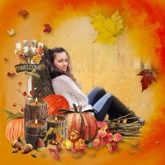 autumn by Bee Creations Digital Scrapbooking, Layouts, Bee, Invitations, Autumn, Creative, Painting, Design, Honey Bees