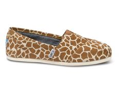 If there has ever been a pair of shoes that I NEEDED, these are them. // New Styles - Giraffe Women's Vegan Classics | TOMS.com $54