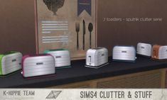 7 Toasters K Clutter Sputnik set 1 at K-hippie via Sims 4 Updates