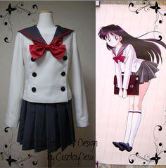 Sailor Mars (Rei Hino) winter school uniform from Sailor Moon cosplay outfit. $175.00, via Etsy.