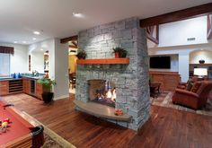 Making a double sided fireplace - Houzz