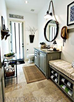 Rustic Beach Bathroom with loads of charm!