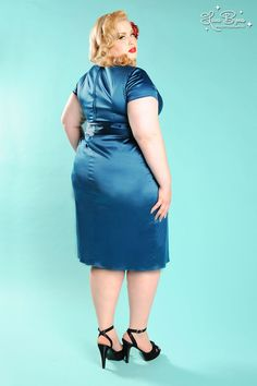 Plus Size Ava Dress in Teal