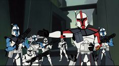 'Star Wars: Clone Wars' is a binge-worthy series that has oddly gone unrecognized by Disney, despite critical acclaim and loyal fans. Star Wars Klone, Star Wars Fan Art, Star Wars Pictures, Star Wars Images, Star Wars Karikatur, Star Wars Cartoon, Star War 3, Clone Trooper, Star Wars Characters