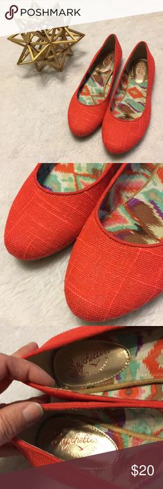 Orange Seychelles flats size 8 Cute shoes. Great condition. Price firm Seychelles Shoes Flats & Loafers
