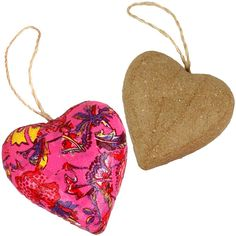 Papier Mache Hanging Heart Shape Decorations. Craft blanks for painting or decoupaging with decoupage paper. Great craft idea for kids.
