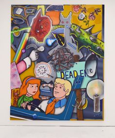 """""""Q: Is the car accident scene in Romeo and Juliet lie? 2016 acrylic on canvas 200 x 160 cm. Romeo And Juliet, Scooby Doo, Scene, Canvas, Car, Tela, Automobile, Canvases, Autos"""