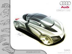 Personal Car Sketch by Ardhyaska Amy, via Behance