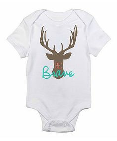 Loving this Love you a Latte White & Brown 'Be Brave' Bodysuit - Infant on #zulily! #zulilyfinds