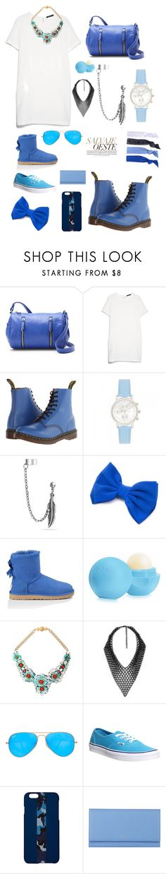 """""""Без названия #454"""" by m-gorodetskaya ❤ liked on Polyvore featuring Madden Girl, MANGO, Dr. Martens, Forever New, Bling Jewelry, UGG Australia, Eos, Shourouk, sweet deluxe and Ray-Ban"""