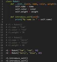 lines (__init__) is a constructor Learn Computer Coding, Computer Science Major, Computer Programming Languages, Computer Technology, Data Science, Arduino Programming, Linux, Teach Yourself Code, Hacking Books