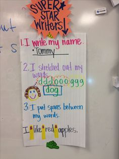 What good writers do. :) kindergarten